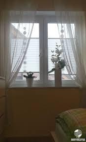 sensuna plissee gardinen am schlafzimmer fenster pleated