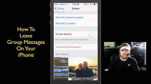 How To Leave Depart From Group Messages iPhone