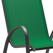 Stackable Outdoor Sling Chairs by Four Seasons Courtyard Verona Sling Stacking Chair Green Model