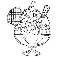 The Sundae Food Coloring Page
