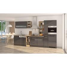 küchenzeile münchen vario 3 küche mit e geräten breite 340 cm hochglanz grau graphit