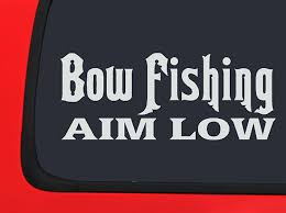 Amazon.com: Bowfishing - Aim Low - Hunting Decal Window Sticker ... 2 Fish Skeleton Decals Car Sticker Fishing Boat Canoe Kayak Rodfather Funny Vancar Jdm Vw Dub Vag Euro Vinyl Decal Tancredy Go Stickers And Bumper Bass Truck Wall Window 1pc High Quality 15179cm Id Rather Be Fly Angler Vinyl Decal Fly Fishing Sticker Ice Hell When Freezes Over Ill Visit To Buy 14684cm Is Good Bruce Pinterest 2018 Styling Daiwa Brand And For Hooked On Outdoor Life Camping