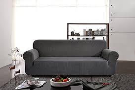 housse de canapé grise chun yi 1 pièce jacquard housse de canapé extensible revêtement de