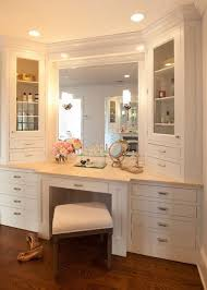 Double Sink Vanity With Dressing Table by Amazing Bathroom Vanity With Makeup Counter And Makeup Vanity
