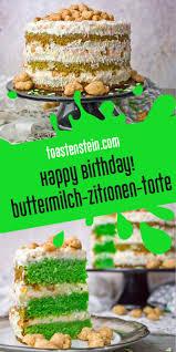 happy birthday buttermilch zitronen torte