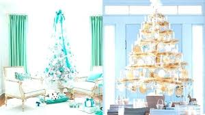 Silver And White Christmas Decorations Teal Plush Blue Tree With Pink Black