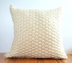 Rustic Pillows Wool Throw Pillow Cover Cream Textured Decorative