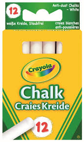 Crayola - Anti Dust 01.0280.10 White Chalk: Crayola: Amazon.co.uk ...
