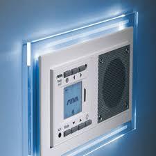 honeywell home peha mp3 unterputz radio audiopoint im design ohne funksender rahmen alu