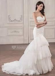 Strapless Mermaid Wedding Dress with Flowers DE353