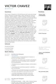 Design Architect Resume Template Job Samples Architecture Arch O