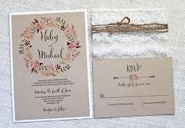 Handmade Rustic Wedding Invitation