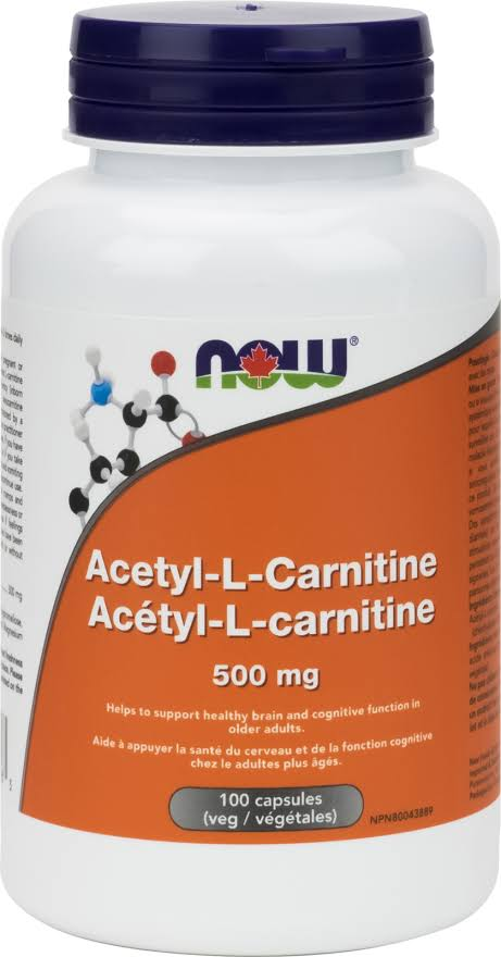 Now Acetyl L-Carnitine - 100ct, 500mg