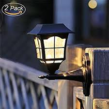2 solar rechargeable security wall sconce lights with