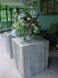 FLOWER STANDS Holder Display 2 Rustic Wedding Cupcake Cake Box Stand Barnwood Primitive Reclaimed Marriage Vintage