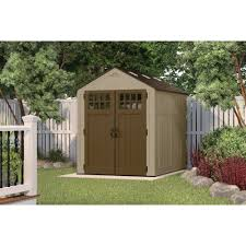 Rubbermaid Roughneck Shed Accessories by Suncast 6 X 8 Everett Storage Shed Walmart Com