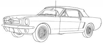 12 Pics Of Mustang Car Coloring Pages Free In Ford Regarding
