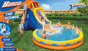 Amazon Banzai The Plunge Water Slide