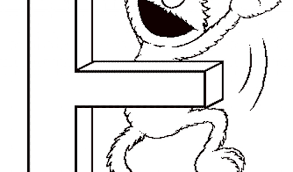 Sesame Street Elmo E Coloring Pages