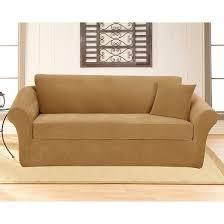stretch pique 3 piece sofa slipcover sure fit target