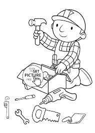Preparing Tools Coloring Pages For Kids Printable Free
