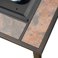 30 ceramic tile table top lp gas pit square leisurelife