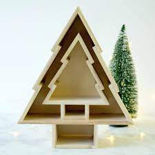 Christmas Tree Shelf Ladder Shelves For Village