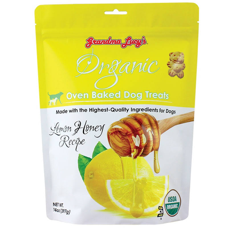 Grandma Lucy's Organic Lemon Honey Oven Baked Dog Treats, 14-oz Bag