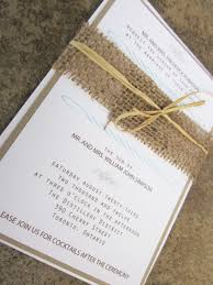 Modern Rustic Collection Burlap Wedding Invitation Suite