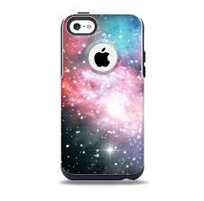 The Colorful Neon Space Nebula Skin for the iPhone 5c OtterBox