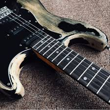 Custom John Mayer Strat Black Cruz Master Built Heavy Relic Stratocaster Guitar