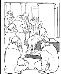 Jesus Teaching In The Temple Coloring Page