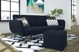 Delaney Sofa Sleeper Instructions by Dhp Furniture Novogratz Brittany Square Storage Ottoman