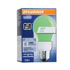 shop sylvania led a19 green light bulb at lowes