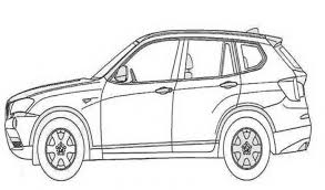 BMW X3 Car Coloring Pages