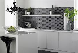kitchen wall tiles for black and white theme smith design best