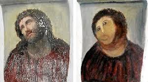 amateur restoration botches jesus painting in spain public radio