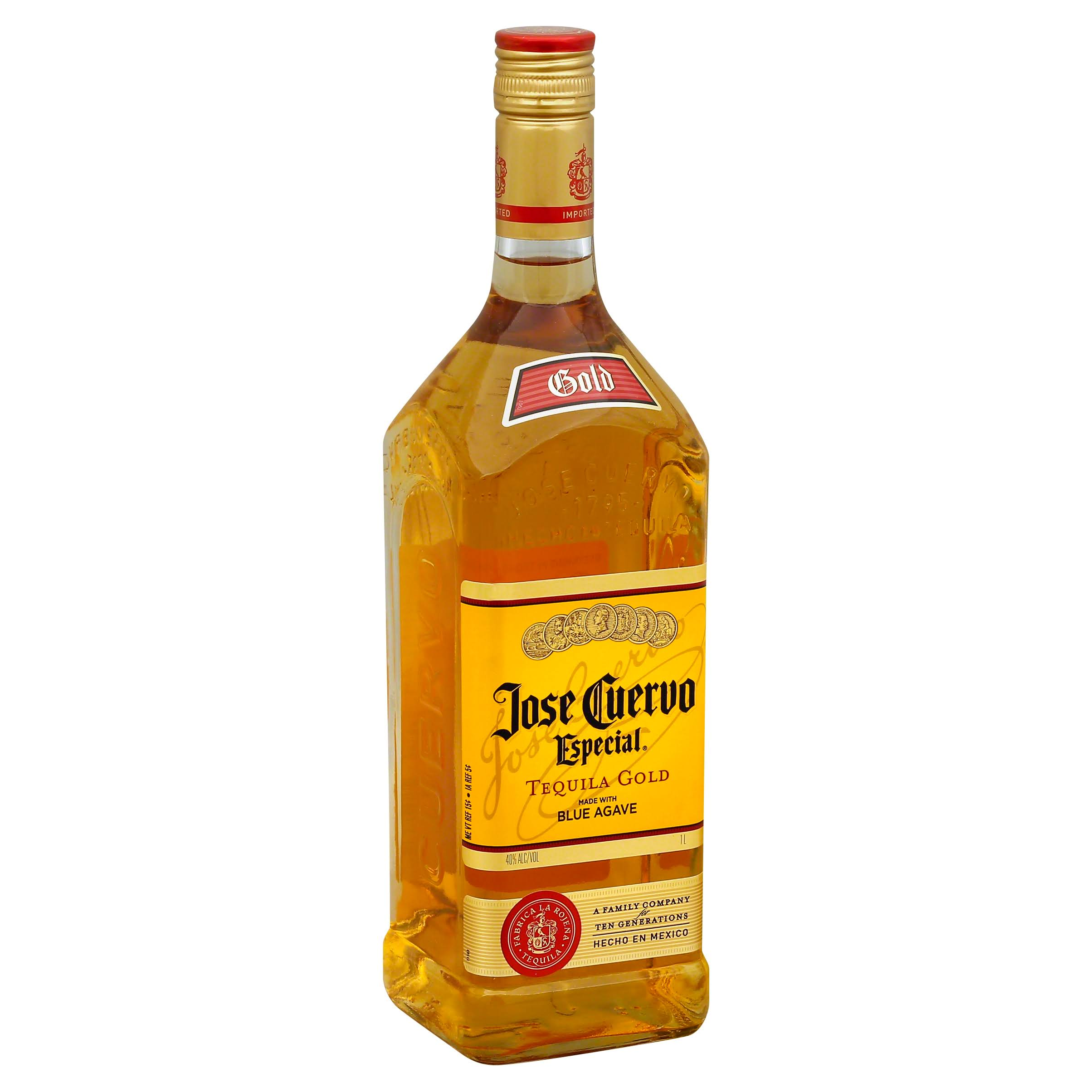 Jose Cuervo Especial, Tequila Gold - 1 L bottle