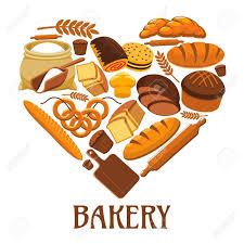 Symbole De La Boulangerie En Forme Coeur Enseigne Magasin