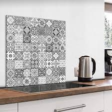 küchenhelfer küchenrückwand glas 60x60 spritzschutz herd