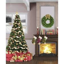 Christmas Tree 10ft by Christmas Living Room Printed Backdrop Backdrop Express