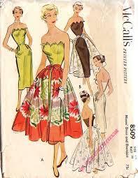 Vintage 50s McCalls 8509 Petal Bust Dress Patter