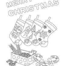 Christmas Socks Poster Coloring Page