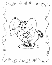 Printable Elephant Coloring Sheet Pages