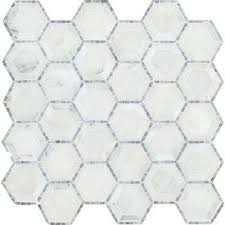 Faux Marble Hexagon Floor Tile by Hexagon Tile Flooring The Home Depot