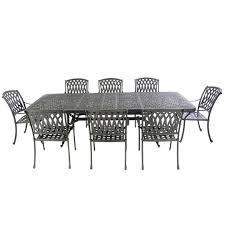 Extending Metal Table With 8 Venetian Chairs - Autumn Rust Brompton Metal Garden Rectangular Set Fniture Compare 56 Bistro Black Wrought Iron Cafe Table And Chairs Pana Outdoors With 2 Pcs Cast Alinium Tulip White Vintage Patio Ding Buy Tables Chairsmetal Gardenfniture Italian Terrace Fniture Archives John Lewis Partners Ala Mesh 6seater And Bronze Home Hartman Outdoor Products Uk Our Pick Of The Best Ideal Royal River Oak 7piece Padded Sling Darwin Metal 6 Seat Garden Ding Set