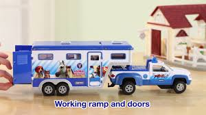 Breyer Stablemates Animal Rescue Truck & Trailer On Vimeo John Deere Toys Monster Treads Pickup Hauler With Horse Trailer At Breyer Stablemates Animal Rescue Truck The Play Room 5356 Pickup And Gooseneck Ebay Giddy Up Go 701736 Dually Identify Your Accsories 132 Model By Loading Mini Whinnies Horses In Ves Car Drama At Show