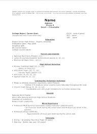 College Resumes For High School Seniors Sample Resume Unique Application Senior Citizens