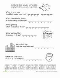 Halloween Brain Teasers Worksheets by Riddles And Codes 1 Classroom Setup And Worksheets