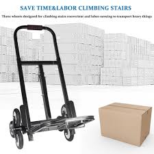 440lb Portable Stair Climbing Folding Cart Climb Hand Truck Dolly ...